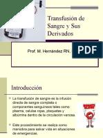 Transfución de Sangre y Sus Derivados