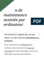 Gestion de maintenance assistée par ordinateur — Wikipédia