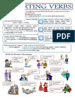 reporting verbs worksheet