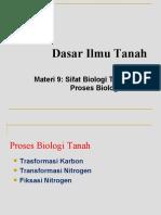 Lecture 9-Sifat Biologi 2 (Proses Biologi)
