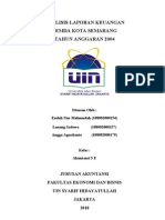 Analisis Laporan Keuangan Pemerintah Kota Semarang