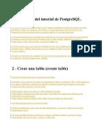 PostgreSQL.
