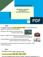 修改 lección 6 (continuación) Lección 7 (primera parte)