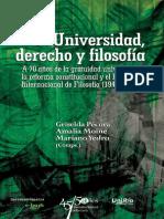 Universidad, Derecho y Filosofía