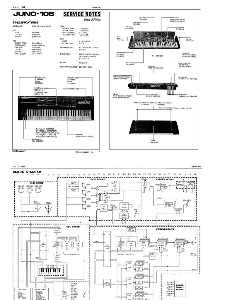 juno 106 service manual rh scribd com juno 106 service manual pdf roland juno 106 service manual pdf
