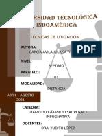 TAREA N° 1.- TÉCNICAS DE LITIGACIÓN PENAL