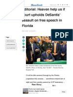 Editorial_ Heaven help us if court upholds DeSantis' assault on free speech in Florida | Miami Herald