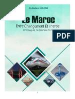 Le Maroc entre changement et inertie. Chroniques de l'année 2019