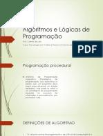 Aula 2 - Algoritmos e Lógicas de Programação