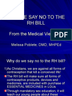 Why We Say No to the RH Bill -from the Medical Viewpoint