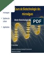 Cours de Biotechnologie des microalgues