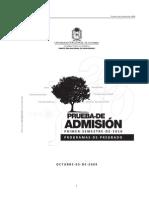 Componente de Ciencias Naturales Examen de Admision 2010-I Unal