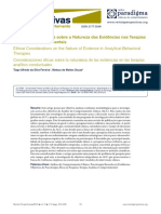 1Considerações Éticas Sobre as Evidencias Nas Terapias Analitico-comportamentais