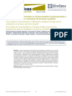 2O Conceito de Responsividade Na Terapia Analítico Comportamental