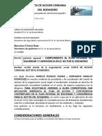 Peticion de Aplicacion de Los Planes de Seguridad y Convivencia