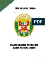Plan de Trabajo 2021 Región Policial Callao - Ultimo