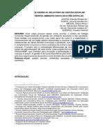 Metodologia de Ensino III- Relatorio de Gestao Escolar Visao Em Diferentes Ambiente Escolar e Nao Escolar