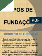 Apresentação Tipos de Fundação2012