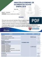 Programacion Examenes de Conocimiento Oca 92 0