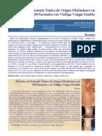 Eficacia Con Formula Topica de Origen Fitofarmaco Vitiligo