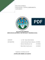 DIRECCIÓN DE AUDITORÍA AL SECTOR SALUD Y SEGURIDAD SOCIAL- HALLAZGOS RECURRENTES