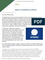 Anarquia Tecnológica e Respaldos Jurídicos   Consultor Jurídico - CONJUR