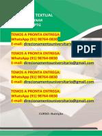 """Nutrição """"Alimentação Saudável e Promoção Da Saúde"""" WhatsApp (91) 98764-0830"""