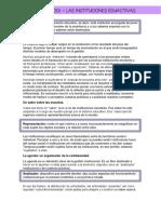 Frigeiro - Las instituciones educativas