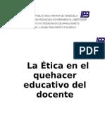 Ensayo - Etica docente Informatica