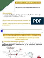 prevention accidents origine electrique