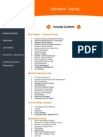 Software Testing Course Brochure