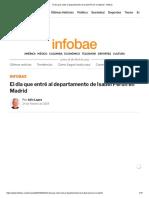 El Día Que Entré Al Departamento de Isabel Perón en Madrid - Infobae