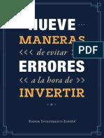 Nueve Maneras de Evitar Errores a La Hora de Invertir 9WS 021621