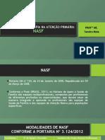 3ª Aula ATUAÇÃO DA FISIOTERAPIA NA ATENÇÃO PRIMÁRIA- NASF