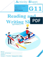 Core - Reading And Writing W1