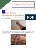 La Vision sans Tête_ l'expérience du doigt qui pointe