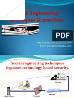 Social Engineering Techniques & practices