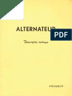 Peugeot Alternateur Description Technique 11/65