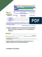 gat schedule