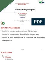 Methodes Therapeutiques L2 2018