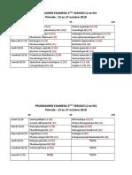 Programme Provisoire Examens 2ème Session (1)