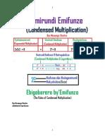 Emirundi Emifunze (Condensed Multiplication Booklet 2021)