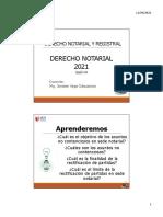 CLASE 04 - DERECHO NOTARIAL Y REGISTRAL - Jonatan Vega - 2021-1