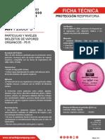 086-01-FT-FILTRO F200CP3 NIVELES MOL. VAPORES ORGANICOS (EX 291-97)
