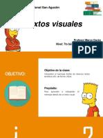 7° Básico Lenguaje PPT clase 1 Textos visuales