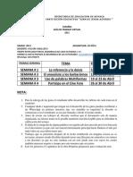 ENTREGA ABRIL- ESPAÑOL  11°