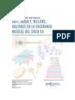 Orff, Kodaly, Willems, Dalcroze en la enseñanza musical del siglo XX