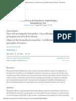Ética Del Investigador Biomédico. Una Reflexión Sobre Los Principios Rectores de La Ciencia - ScienceDirect