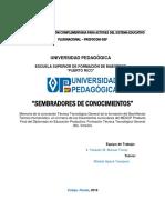 MEMORIA SEMBRADORES DE CONOCIMIENTOS