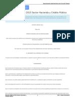 Decreto 1068 de 2015 Sector Hacienda y Crédito Público